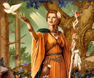 The healing goddess Eyre